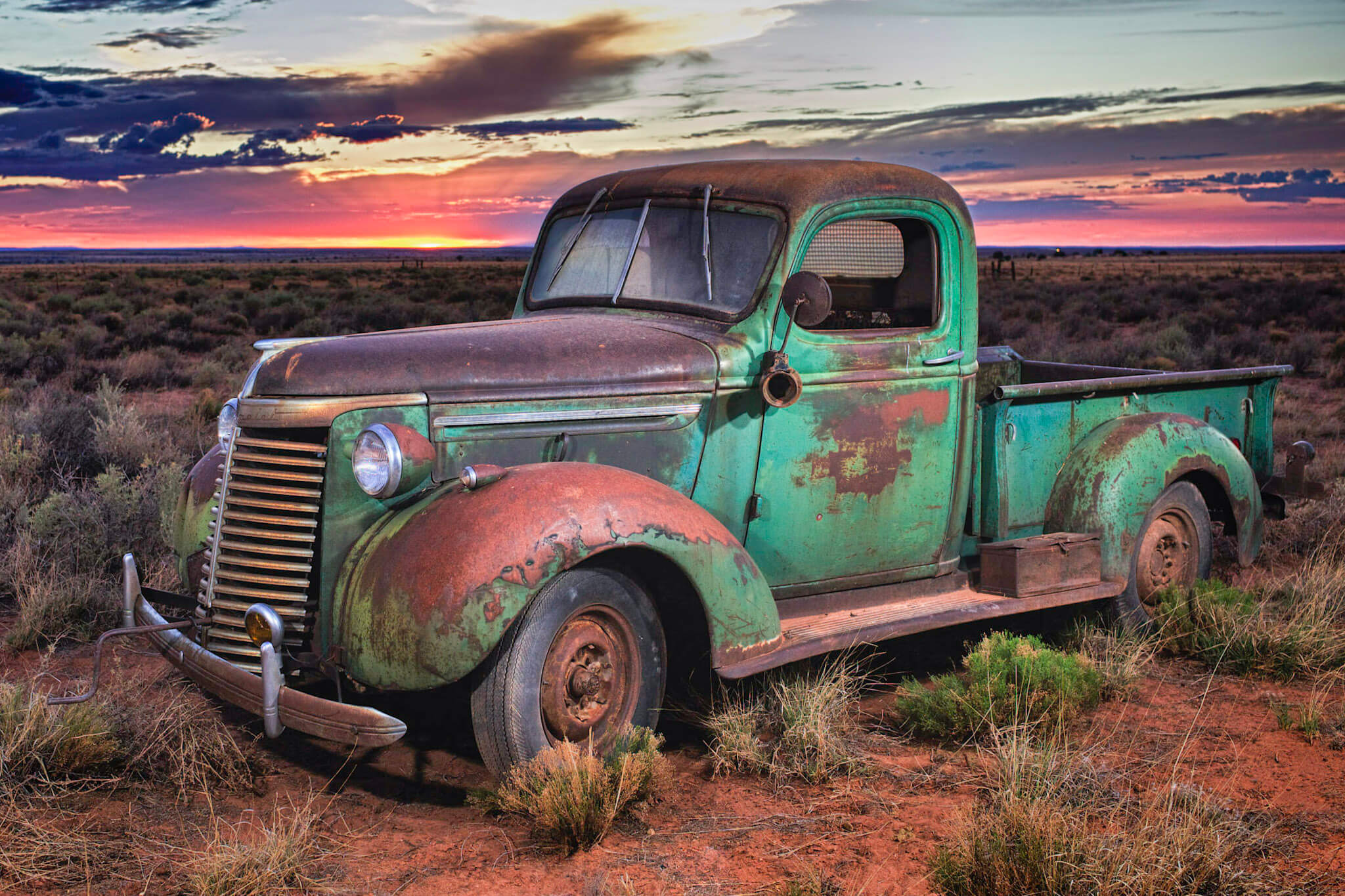 Green Truck by Guy Atchley